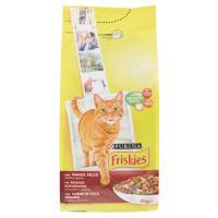 Purina, gatto Friskies crocchette Adult con manzo, pollo e verdure aggiunte