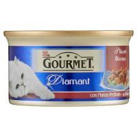 Purina, gatto Gourmet Diamant gatto Sfilaccetti con manzo prelibato lattina