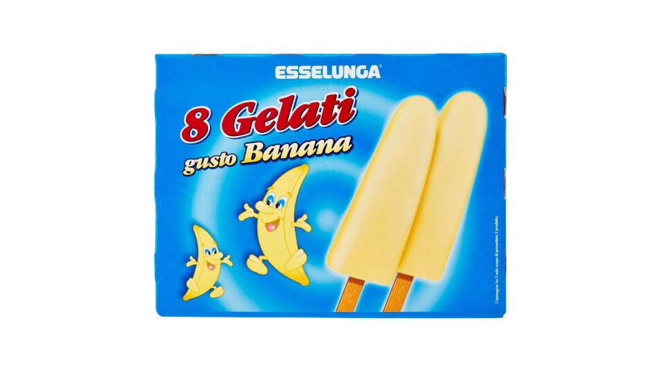 Esselunga, gelati gusto banana
