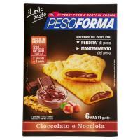 Pesoforma, 6 pasti cioccolato nocciola