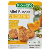 Kio-Ene mini burger vegetale con semi di zucca e di girasole