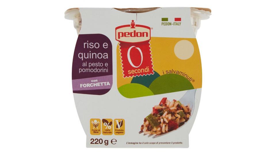 Pedon, i salvaminuti riso e quinoa al pesto e pomodorini