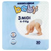 Esselunga, Baby pannolini taglia 3 midi (4-9 Kg)