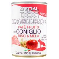 Monge, cane Special Dog Excellence patè fruits con coniglio riso e mela