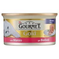 PURINA GOURMET Gold gatto mousse con manzo lattina