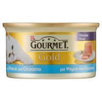 Purina, gatto Gourmet Gold Mousse con pesce dell'oceano lattina