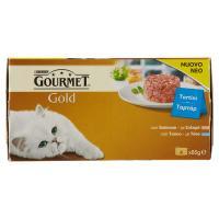 Purina, gatto Gourmet Gold Tortini con salmone e tonno