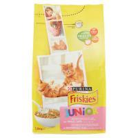 Purina, gatto Friskies crocchette Junior con pollo, latte e verdure aggiunte