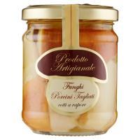 Prodotto Artigianale, funghi porcini tagliati in olio di oliva