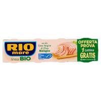 Rio Mare, Linea bio tonno con olio extra vergine di oliva biologico conf. 3x65 g +