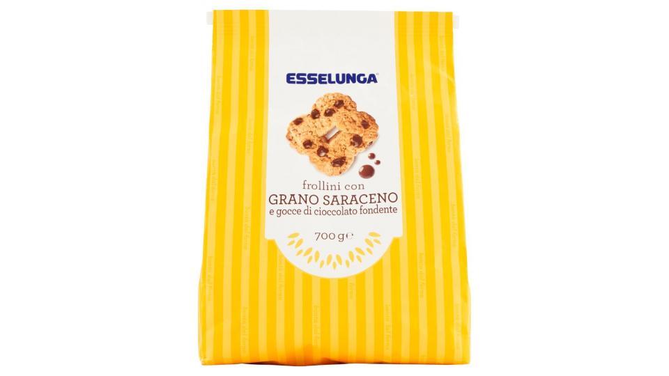 Esselunga, frollini con grano saraceno e gocce di cioccolato fondente