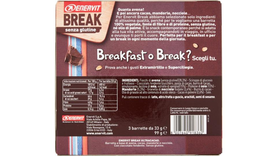 Enervit, Break ultra cacao barrete