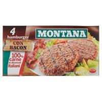 Montana 4 Hamburger con bacon surgelati