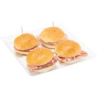 Esselunga I Pronti in Tavola 4 Tartine di salumi assortite: 1 al salame milano, 1 alla coppa di zibello, 1 al prosciutto crudo di Parma