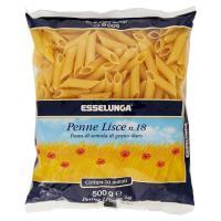 Esselunga, Penne Lisce n. 18 pasta di semola di grano duro