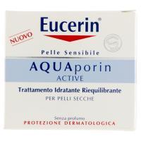 Eucerin AQUAporin Active Trattamento Idratante Riequilibrante, per pelli secche