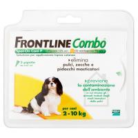 Frontline Combo Cani Piccoli Soluzione per applicazione topica cutanea, elimina pulci, zecche e pidocchi masticatori e previene la contaminazione dell'ambiente, 3 pipette da 0,67 ml, per cani da 2 a