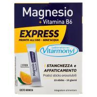 Laboratoires Vitarmonyl, Magnesio + Vitamina B6 Express 15 sticks