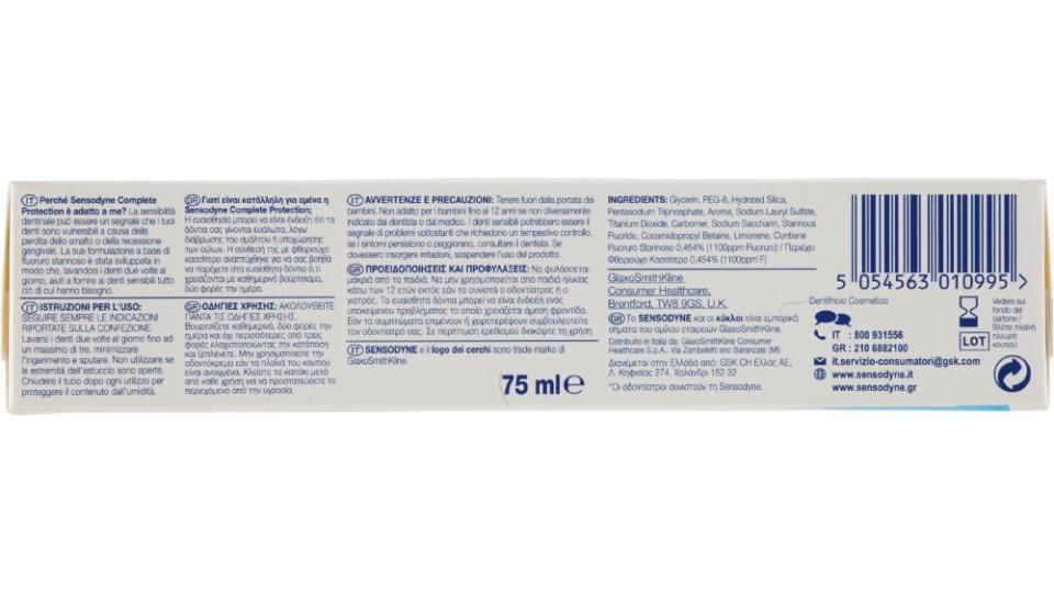 Sensodyne, Complete Protection dentifricio
