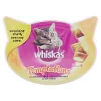 Whiskas, gatto Temptations snack con pollo e formaggio