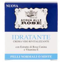 Acqua alle Rose Idratante Crema viso rivitalizzante, con Estratto di Rosa Canina e Vitamina E, per pelli normali o miste