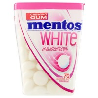 mentos White Always 70 Sugarfree Gum Peppermint