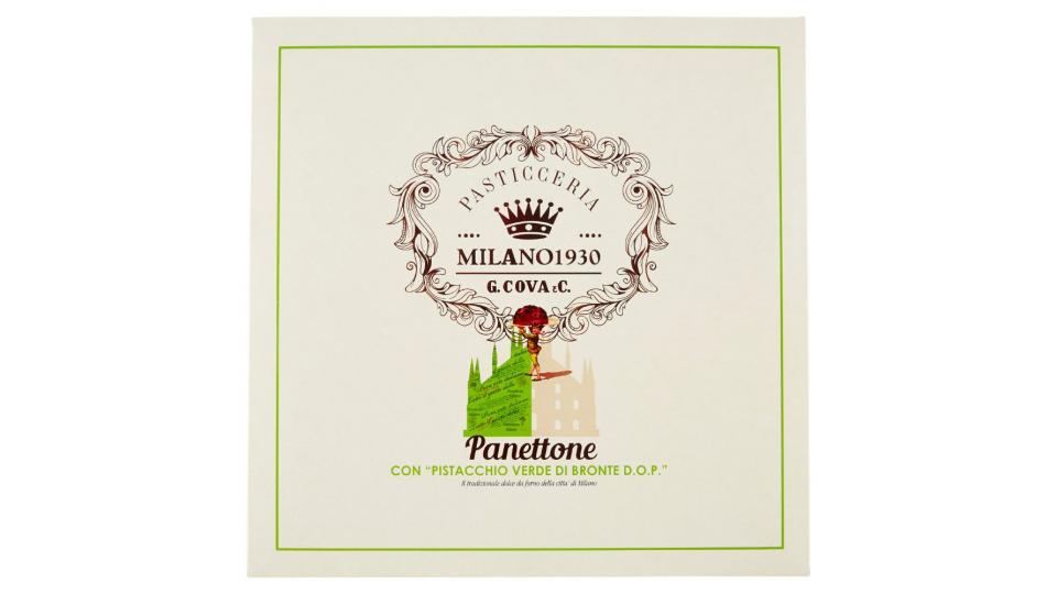 """G. Cova & C. Panettone con """"Pistacchio Verde di Bronte D.O.P."""""""