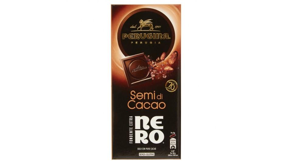Nero Perugina Tavoletta di Cioccolato Fondente con Semi di Cacao ...