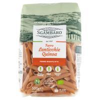 Sgambaro, Penne Rigate N°91 a base di farro lenticchie quinoa biologico