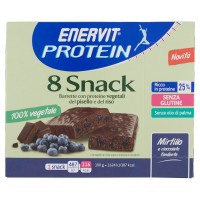 100% Vegetale 8 Snack Mirtillo e Cioccolato Fondente