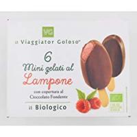 6 MINIGELATI AL LAMPONE con Copertura di Cioccolato Fondente il Viaggiator Goloso il Biologico