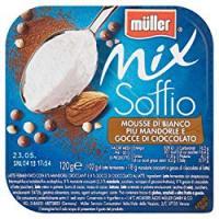 Müller Mix Soffio MOUSSE BIANCA CON MANDORLE E GOCCE DI CIOCCOLATO