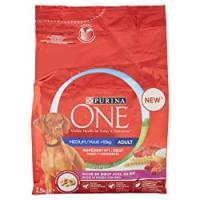 Purina One CANE MEDIUM/MAXI>10kg CROCCHETTE MANZO CON RISO, 2.5kg