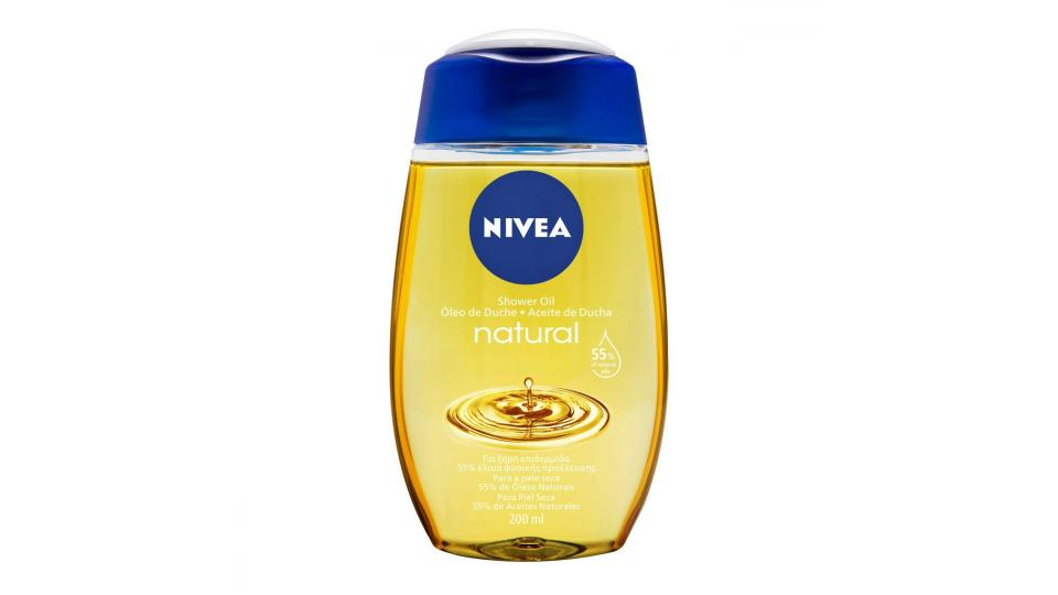 Nivea - Natural Oil, Olio Doccia