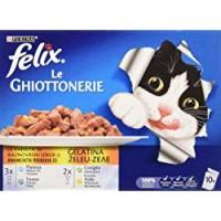 Felix Purina Le Ghiottonerie Umido Gatto Le Varietà con Platessa, con Tonno, con coni glio e con Pollo - 60 Buste da 100 g Ciascuna (6 Confezioni da
