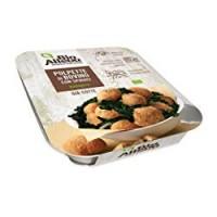 Polpette di bovino cotte con spinaci