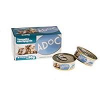 Adoc Cibo Umido per Gatti con Ingredienti Naturali al 100% - Multipack da da 50 Gr con Tonno e Spigola