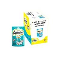 Catisfactions Snack per Gatto, Delizioso Salmone, 6 Confezioni da