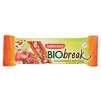Noberasco Biobreak con Melograno Noci Pecan e del Brasile da 35g- Barrette con Frutta Essiccata, Frutta Secca e Semi, Biologica