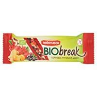 Noberasco Biobreak con Goji e Physalis - 35 g - Barretta con frutta essiccata, frutta secca e semi, biologica