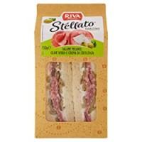 Riva Stellato - Tramezzino Salame Milano, Olive Verdi e Crema di Crescenza