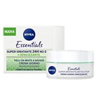 Nivea Essentials Super Idratante 24H Opacizzante, Crema Giorno Viso per Pelli da Miste a Grasse