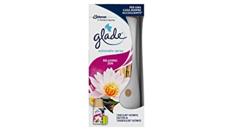 Glade Automatic Spray Base Con Ricarica, Fragranza Relaxing Zen - 1 Confezione Con 1 Erogatore + 1 Ricarica