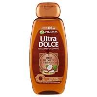 Ultra Dolce Garnier Shampoo all' Olio di Cocco e Burro di Cacao per Capelli Lisci