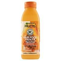 Garnier Shampoo Riparatore Fructis Hair Food, Shampoo Riparatore alla Papaya per Capelli Danneggiati, 350 ml, Confezione da 1