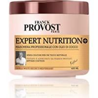 Franck Provost Maschera Professionale Expert Nutrition +, Maschera con Olio di Cocco per Capelli Nutriti e Disciplinati, 400 ml, Confezione da 1