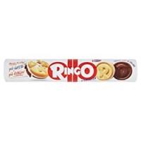 Pavesi Ringo Biscotti Farciti con Crema al Gusto Vaniglia, Snack per Merenda o Pausa Studio, senza Olio di Palma - Formato Tubo da