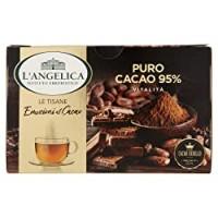 L'Angelica, Le Tisane Emozioni al Cacao, Tisana Funzionale con il Pregiato Cacao Criollo, Puro Cacao al 95%, Senza Lattosio, Senza Glutine e Vegan - 15 Filtri