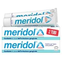 meridol Dentifricio con Ingrediente Antibatterico, Protezione Gengive, Combatte le Cause dell'Irritazione e del Sanguinamento occasionale delle Gengive, 2x75ml