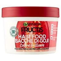 Garnier Maschera Color Resist Fructis Hair Food, Maschera nutriente 3in1 con formula vegana per capelli colorati, Bacche di Goji